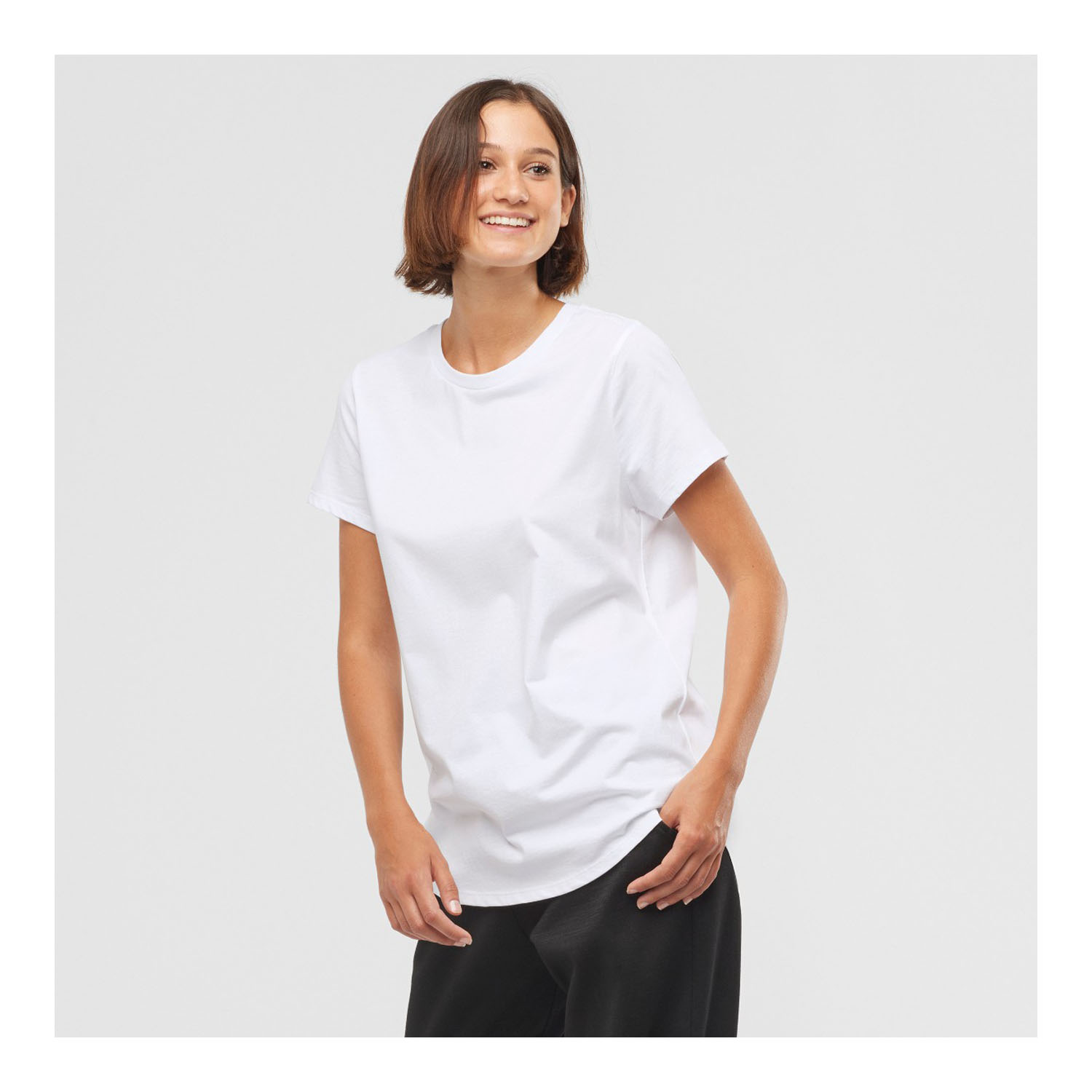 OUTLIFE SCOOP HEM TEE W